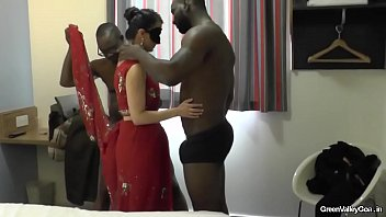 by fucked films hubby busty wife her indian friend while Step mother sadue