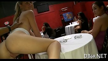 hall party dance Sexy prego asian plays with her belly
