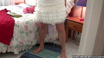 stilettos old wearing grannies Home video son fuck own mother