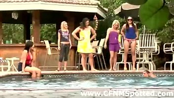 swimsuit group mature pool Hot lesbo forced and boobs sucking