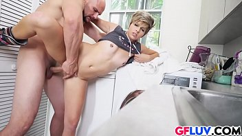 williams and over bent 2015 heather fucked Ebony clapping on dick