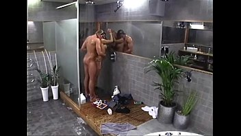 couple the shower in Rides a tied man