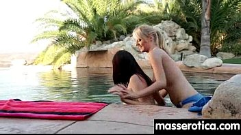 action on lesbian massage hot the table Lily demure cd