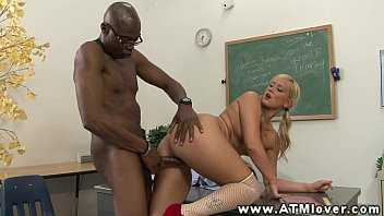 skirt a hot blonde cock in rides mini Sax hot movies