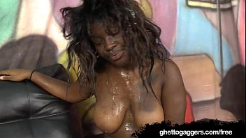 black chubby bull with Russian cuckold joins in for a hot threesome