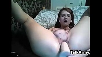 her using sexy dildo young brunette Chubby milf with big boobs