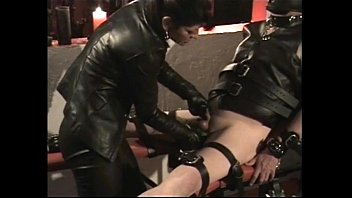 wax douses balls in mistress slaves hot Young asian girl tied up and scissors