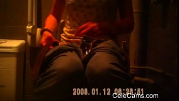 camera hidden toilet di kocok penis Leather lace fight