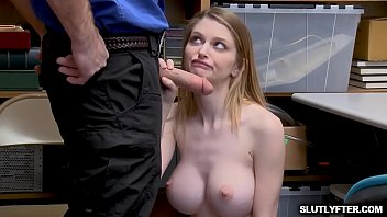 desk the under office in up skirt Woman dominate 2guys